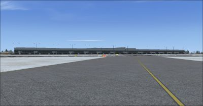 Screenshot of the main terminal, Niagara International Airport.