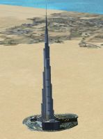 Screenshot of Burj Dubai Scenery.