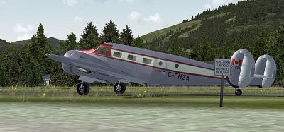 Screenshot of Canadian Beechcraft D18S/SNB on the ground.
