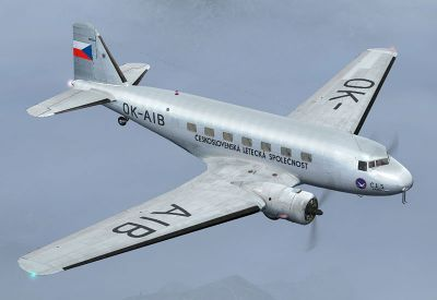 Screenshot of Ceskoslovenska Letecka Spolecnost Douglas DC-2 in the air.
