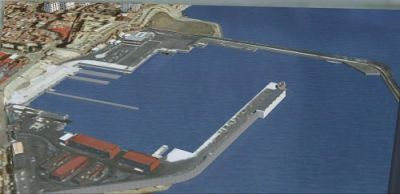 Aerial view of Ceuta-Algeciras Scenery.