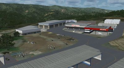 Screenshot of Charallave Airport Scenery.