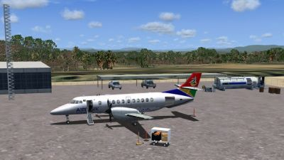 Screenshot of Chimoio Airport Scenery.