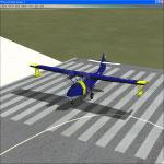 Screenshot of PBY-5A Catalina on runway.