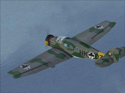 Screenshot of Croatian Air Force Junkers W34 in flight.