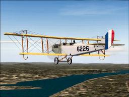 Screenshot of Curtiss Jenny in flight.