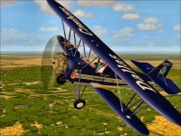 Screenshot of Dallas Cowboys Biplane in flight.