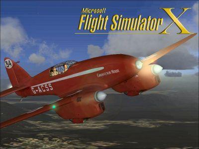 Screenshot of DeHavilland Comet in flight.