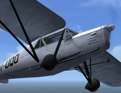 Screenshot of DeHavilland DH.80A Puss Moth in flight.