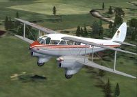 Screenshot of DeHavilland Dh89a Dragon Rapide in flight.
