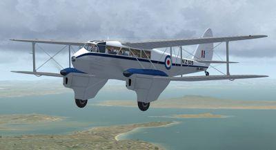 Screenshot of Dh89a DeHavilland Dragon Rapide in flight.