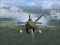 Screenshot of Dick Rossi's AVC Tiger in flight.