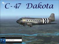 Screenshot of Douglas C-47 Dakota in flight.