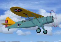 Screenshot of Douglas O-46 in flight.