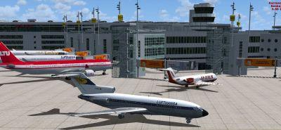 Screenshot of Duesseldorf EDDL Scenery.