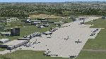 Aerial view of ETAR Ramstein Airport Scenery.