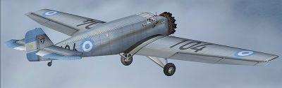 Screenshot of FAA Junkers W-34 in flight.
