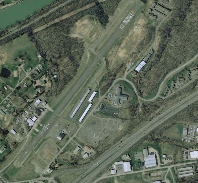 Aerial shot of Fairmont Airport Scenery.