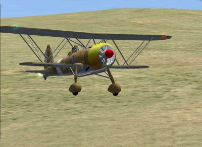 Screenshot of Fiat Cr42 in flight.