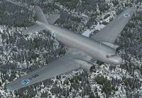 Screenshot of Finnish Air Force Douglas DC-2 in flight.