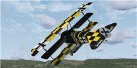 """Screenshot of Fokker DR1 Triplane """"The Great Waldo Pepper"""" in flight."""