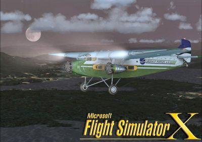 Screenshot of Ford Tri-Motor in flight.