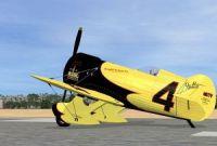 Screenshot of Gee Bee Model Z Supersports on runway.