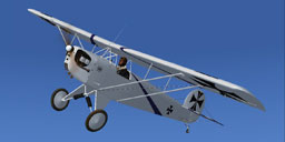 Screenshot of white German Tail Corben Baby Ace in flight.