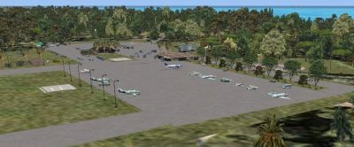 Screenshot of Governors Harbour Airport scenery.
