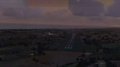 Screenshot of Grand Bahama Auxiliary Airfield Scenery at night.