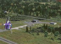 Screenshot of Greenville Airport during the day.