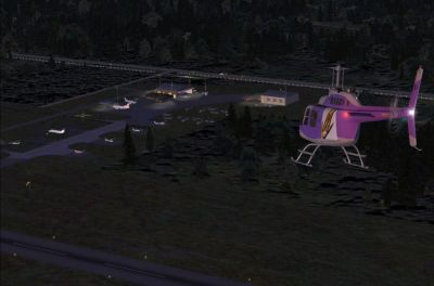 Screenshot of Greenville Airport at night.