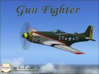 Screenshot of Gun Fighter P-51 in flight.