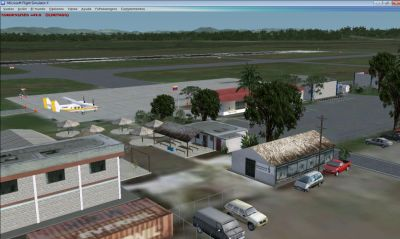 Screenshot of Higuerote Airport Scenery.