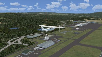 Screenshot of Hiroshima Airport Scenery.