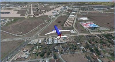 Screenshot of Houston Hobby Airport Scenery.
