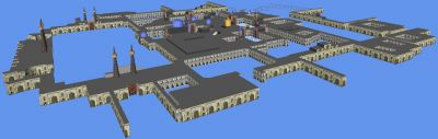 Screenshot of Imam Reza Holy Shrine 3D model.