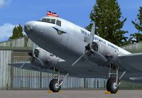 Screenshot of Indian National Airways Douglas DC-2 on the ground.