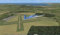 Screenshot of Kingscote Airport Scenery.