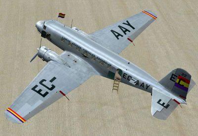 Screenshot of LAPE Douglas DC-2 EC-AAY.