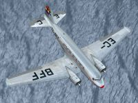 Screenshot of LAPE Douglas DC-2 in flight.