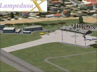 Screenshot of Lampedusa Airport Scenery.