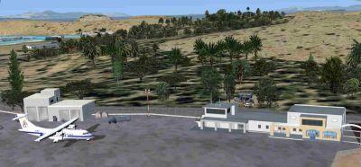 Screenshot of Leros Airport Scenery.