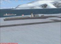 Screenshot of Longyearbyen Airport Scenery.