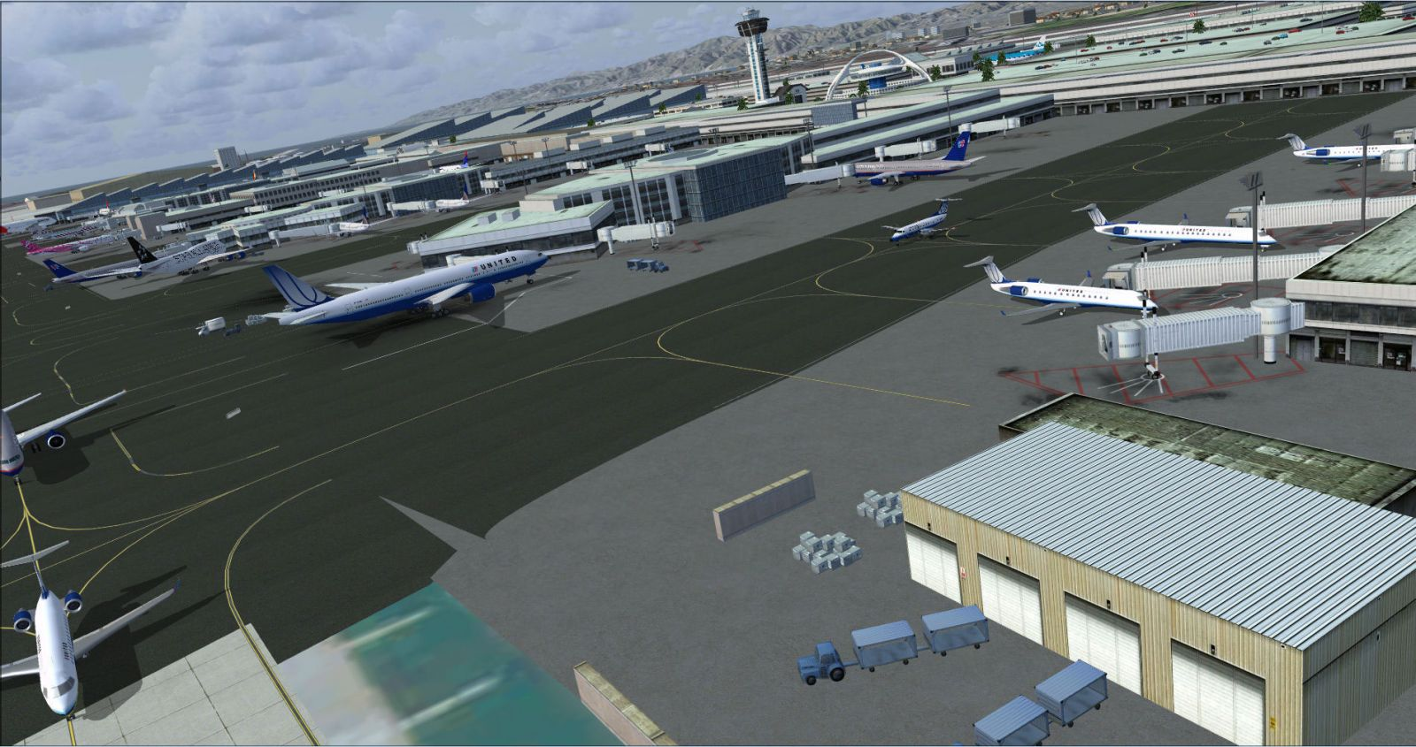 Los Angeles Airport Scenery V3 for FSX