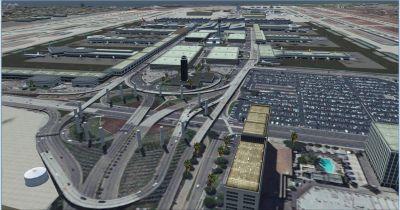 Screenshot of Los Angeles Airport Scenery.
