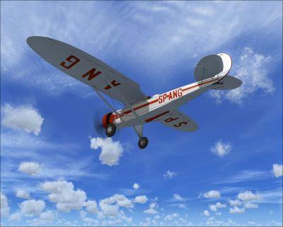 Screenshot of Lublin R. XIII D/ter in flight.