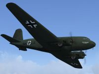 Screenshot of Luftwaffe Douglas DC-2 'NA+LA' in flight.
