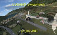 Screenshot of Lugano Airport Scenery.