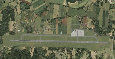 Top down view of Magdeburg-Cochstedt International Airport.